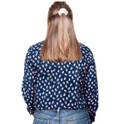 Just Country Women's - Georgie - 1/2 Button Navy Candy WWLS2034  back
