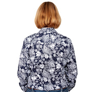 Just Country Women's - Georgie - 1/2 Button Paisley Floral WWLS2040 back