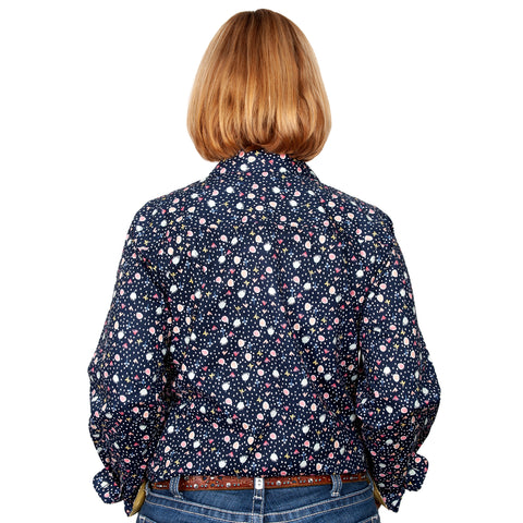 Just Country Women's - Georgie - 1/2 Button Navy Confetti WWLS2041