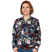 Just Country Women's - Abbey - Full Button Workshirt Navy Hibiscus WWLS2128