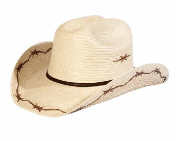 Sunbody Hats Kids Barbed Wire Cattleman Natural