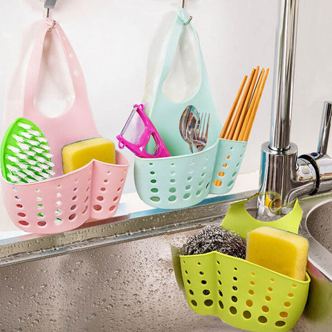 Sponge and Accessory Holder for Kitchen or Bathroom Sink