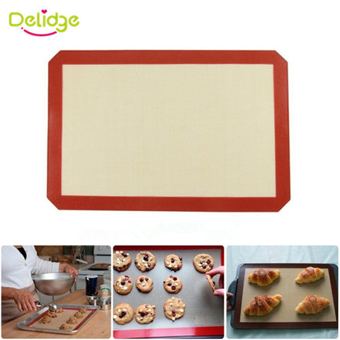 Delidge 1pc Large Size 42*29.6cm Non-Stick Silicone Baking Mat For Cake Cookie Baking Liner Cooking Kitchen Accessories