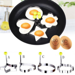 2017 Stainless steel form for frying eggs tools omelette mould device egg/pancake ring egg shaped kitchen appliances D37JL11