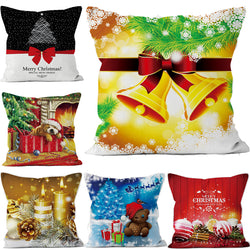 2017 Christmas Decorative for Home Short Plush Santa Claus Pillows Cover Set Xmas Style Soft Cushion Cover Pillowcase 45*45cm
