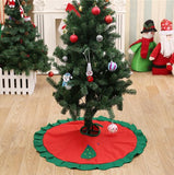 70-100cm Red Christmas Tree Skirt Embroidered Non-woven Christmas Tree Skirt Xmas Trees Ornaments Christmas Decorations For Home