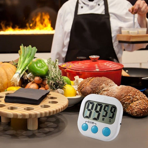 LCD Digital Kitchen Timer Portable Alarm Clock Cooking Tools Kitchen Gadgets Household Supplies Multi-functional Durable ABS