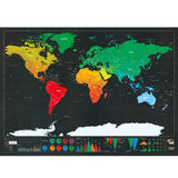 Travel Tracker -Deluxe Scratch Map