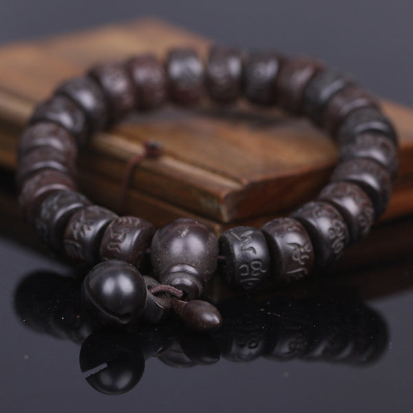 HAND CARVED SIX-WORDS TIBETAN BUDDHIST MALA