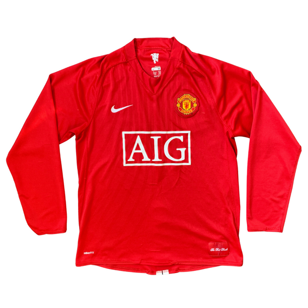 Manchester United 2007/08 Long Sleeve Home Nike Jersey