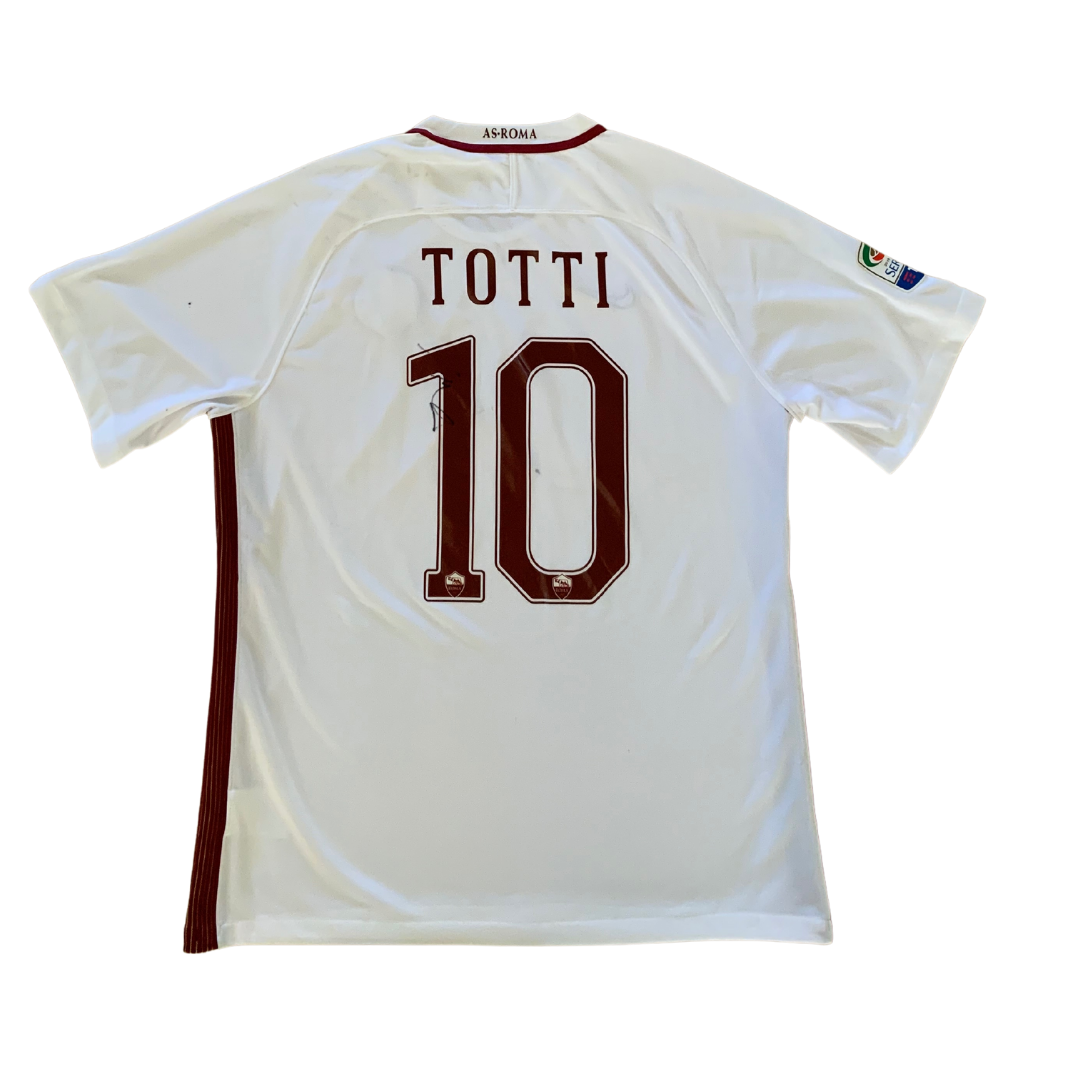 As Roma #10 Totti *signed* rare 2016/17 Away Nike Jersey