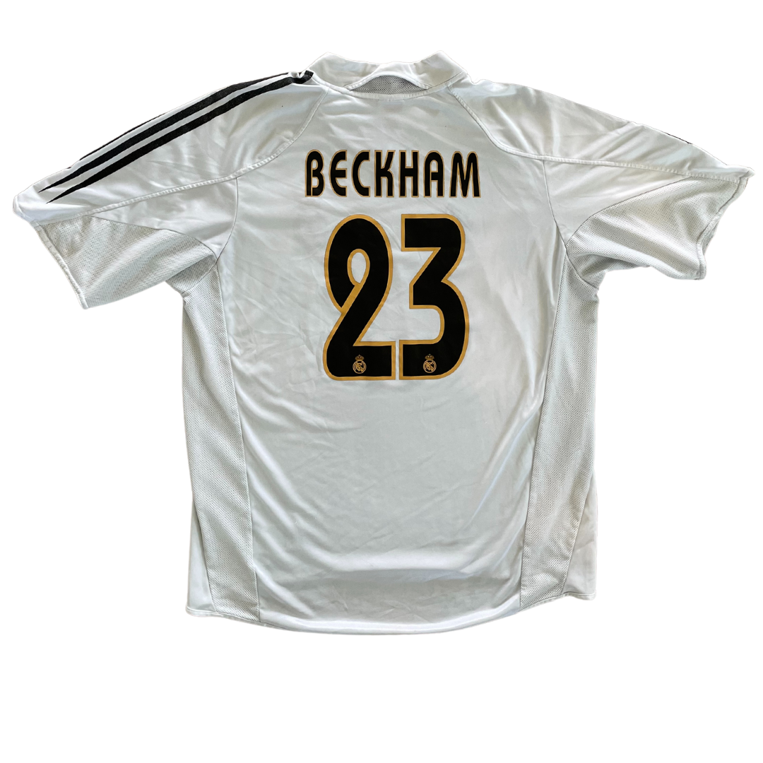 Real Madrid #23 Beckham 2004/05 Home Adidas Jersey