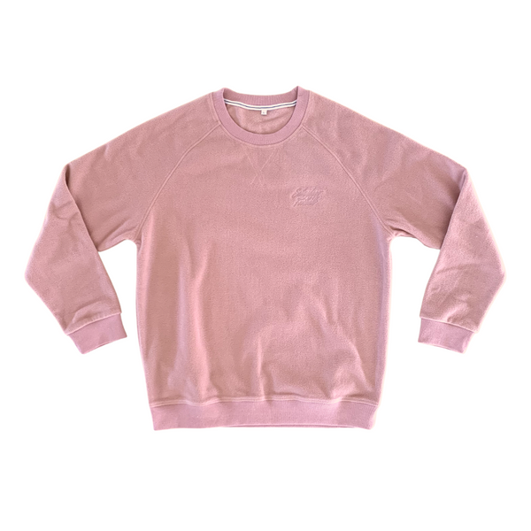 Saturdays Football Embroidered Crewneck Salmon