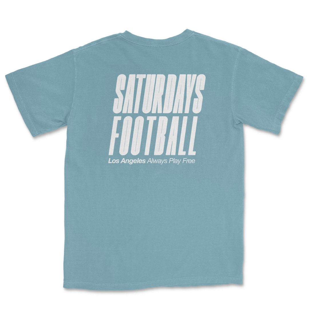 PIgment Dyed Sprint Tee - Ice Blue