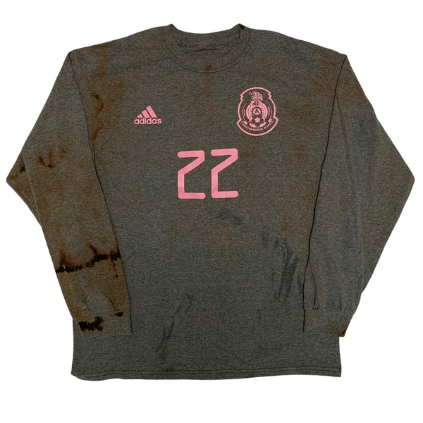 1 of 1 Adidas Mexico #22 Acid Wash Long Sleeve
