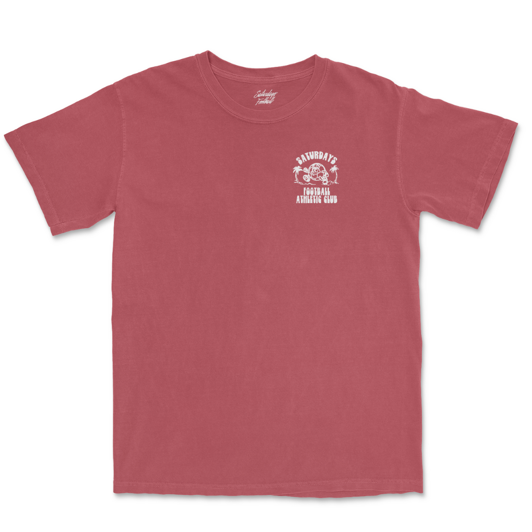 Pigment Dyed Always Play Free T-Shirt - Crimson