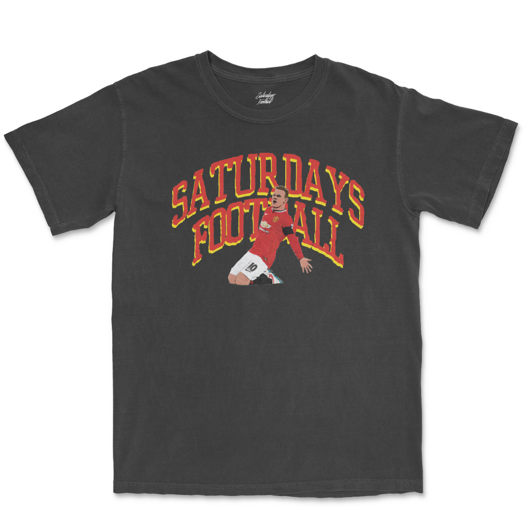 Saturdays Football Hand Drawn Tee - Black #10