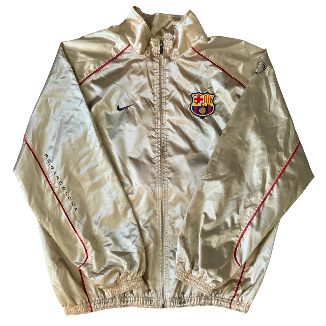 Fc Barcelona Rare Golden Nike Jacket