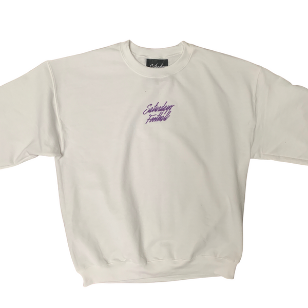 Saturdays Football Embroidered Crewneck