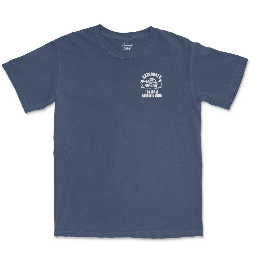 Pigment Dyed Always Play Free T-Shirt - Midnight Blue