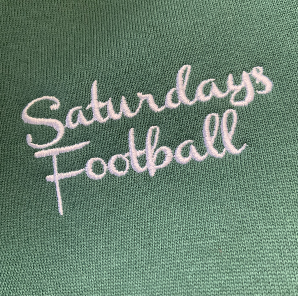 Saturdays Football Embroidered hoodie - Bayberry