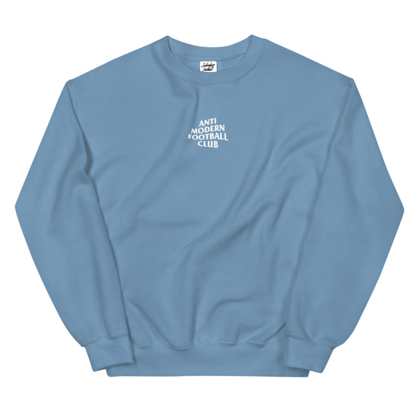 Anti Modern Football Embroidered Crewneck
