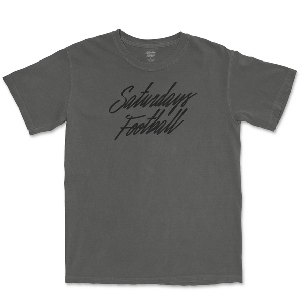 Pigment Dyed Pepper Saturdays Football T-Shirt