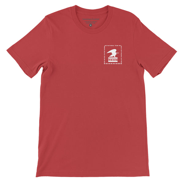 USWNT Short-Sleeve Unisex T-Shirt - RED & NAVY