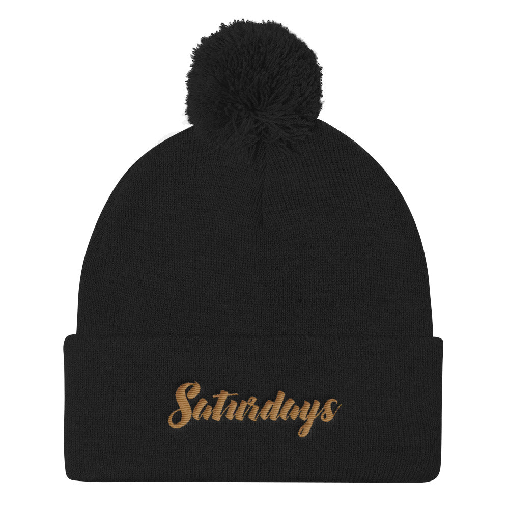 Saturdays Pom Pom Knit Cap Beanie