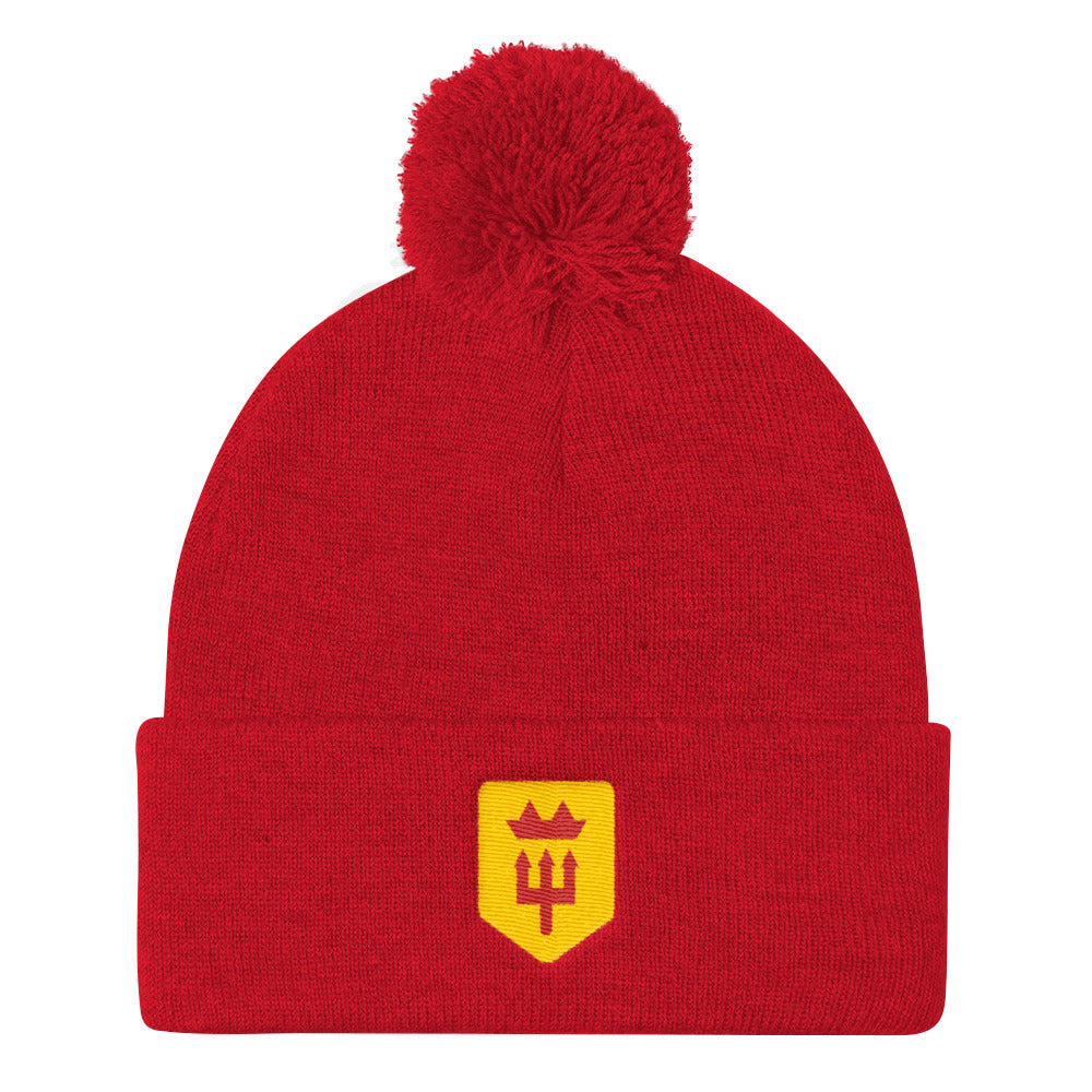 Red Devils Pom Pom Knit Cap