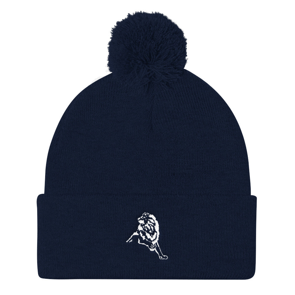The Blues Pom Pom Knit Cap