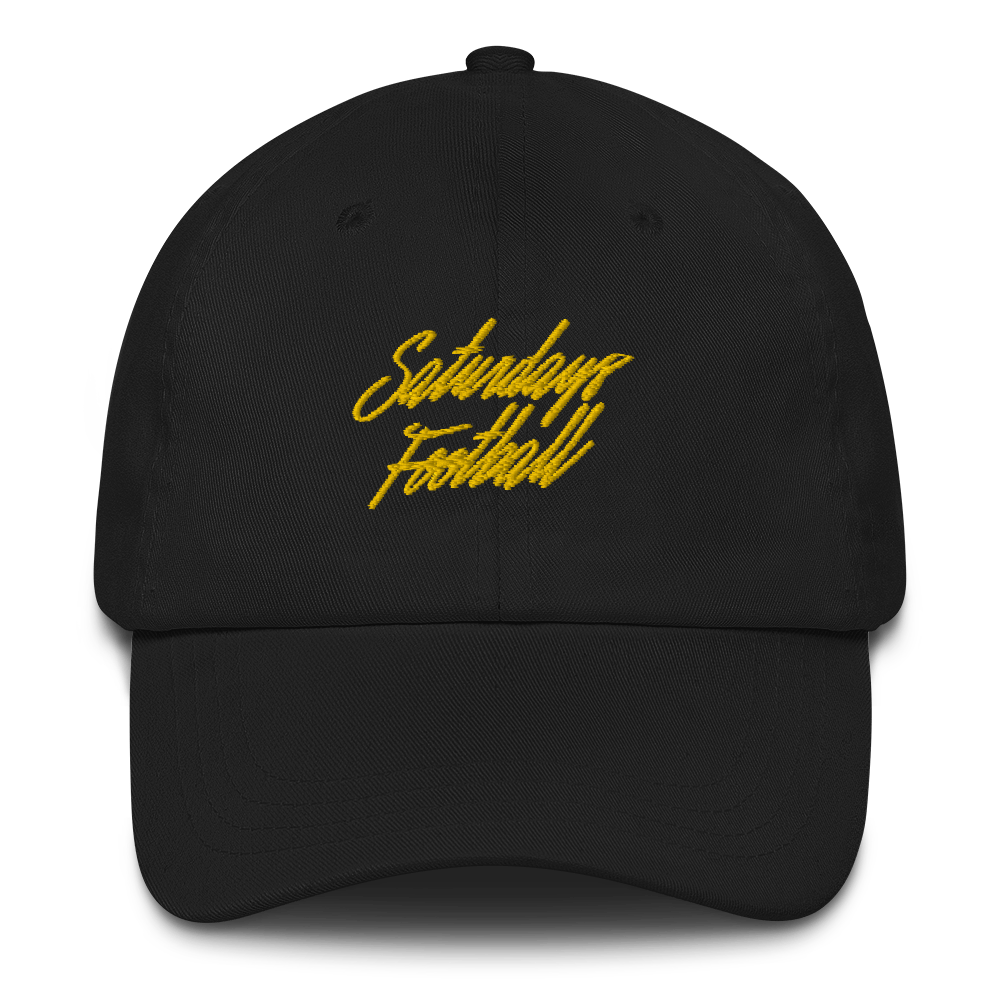 Saturdays Football Dad Cap - Black / Yellow