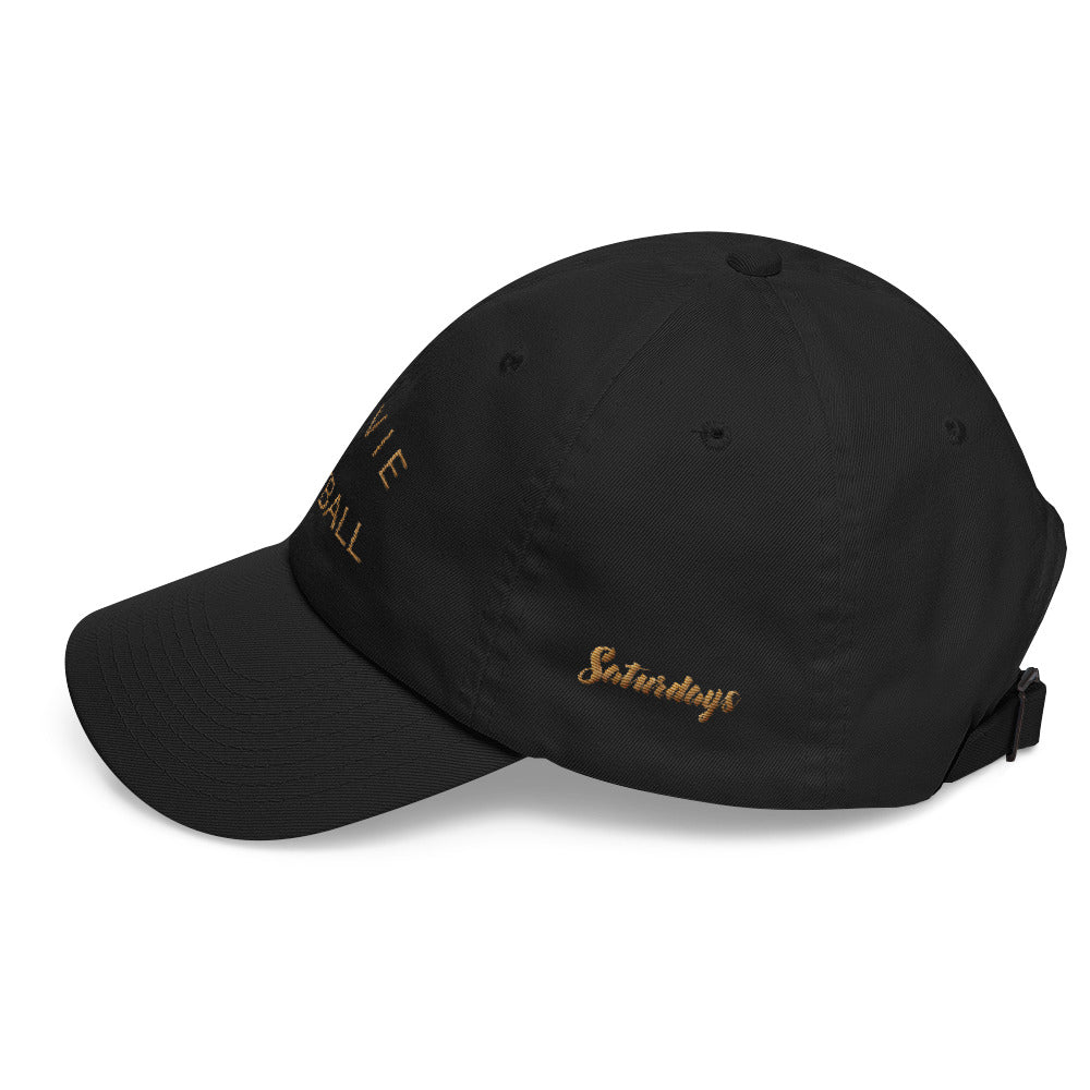 La Vie de Football - Dad Cap ( Gold on Black )