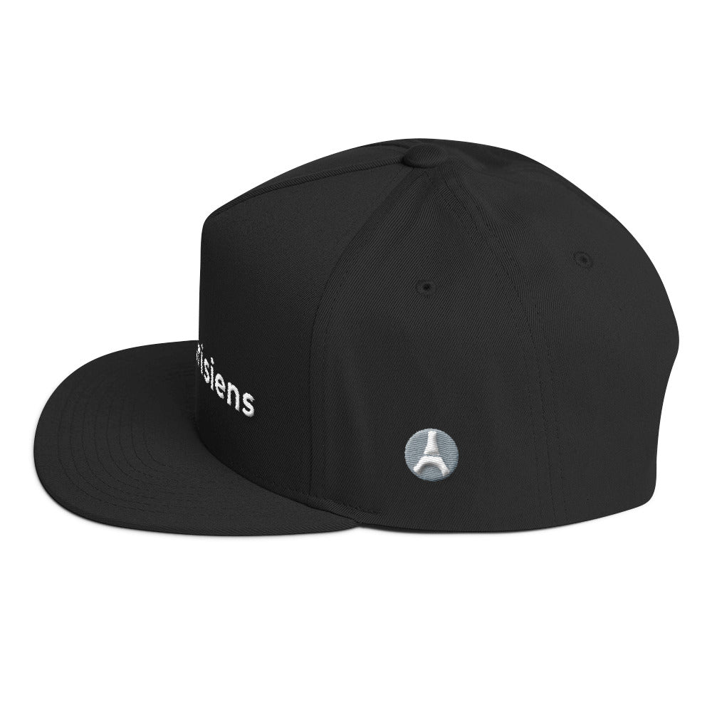 Paris Black & White Flat Bill Snapback Cap