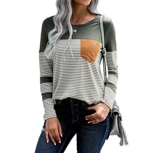 #8844 Solids and Stripes Fall Top