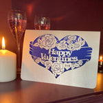 Load image into Gallery viewer, Valentine Roses Papercut Card