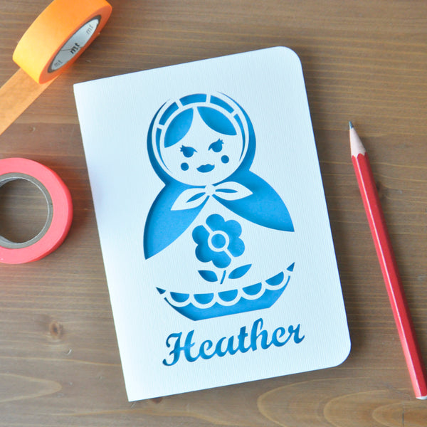Russian Doll Paper Cut Card