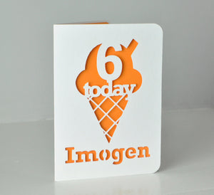 Ice Cream Cone Card - regular C6 size