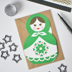 Load image into Gallery viewer, Russian Doll Family Greetings Card
