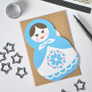 Russian Doll Family Greetings Card