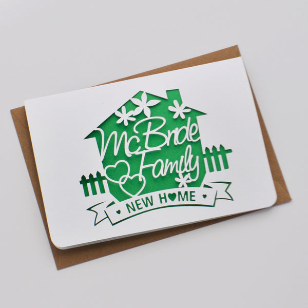 New Home Paper Cut Card