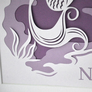 Mermaid Layered Papercut Art
