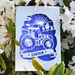 Load image into Gallery viewer, Tractor Papercut Card