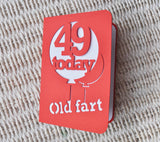 Age Balloon Card - bigger C5 size
