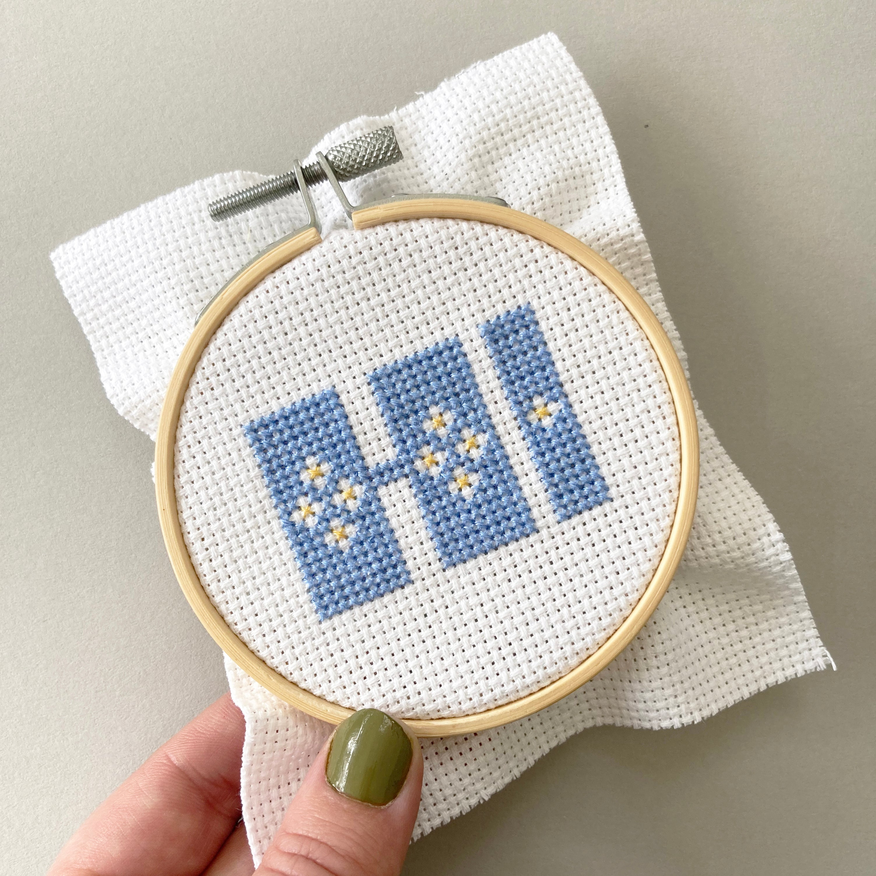 Hi - Cross Stitch Kit (perfect for beginners)
