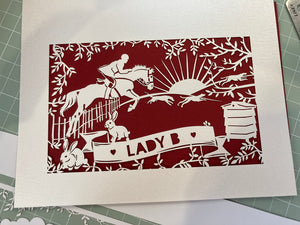 Countryside Lover Papercut Card
