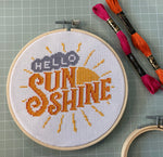 Load image into Gallery viewer, Hello Sunshine Cross Stitch Kit
