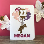 Load image into Gallery viewer, Balloon Puppy Greetings Card