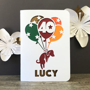 Balloon Puppy Greetings Card