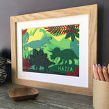 Dinosaur Fan Personalised Papercut